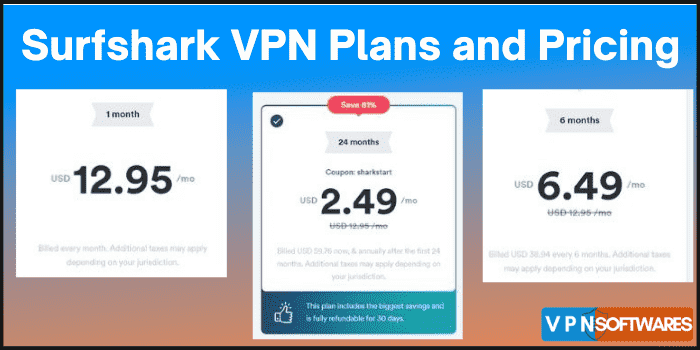 Surfshark VPN Plans and Pricing